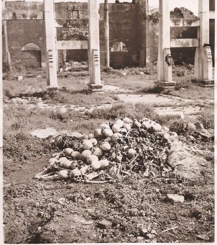 内战时期的中国大饥荒老相片 成熟大米